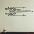 X-wing fighter 2D wall art by kleinbottle image
