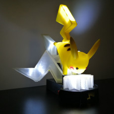 Lighting plate for pikachu lamp
