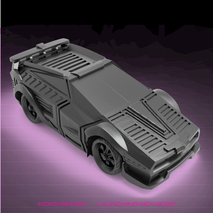 CyberGlow City Cyberpunk Street Car
