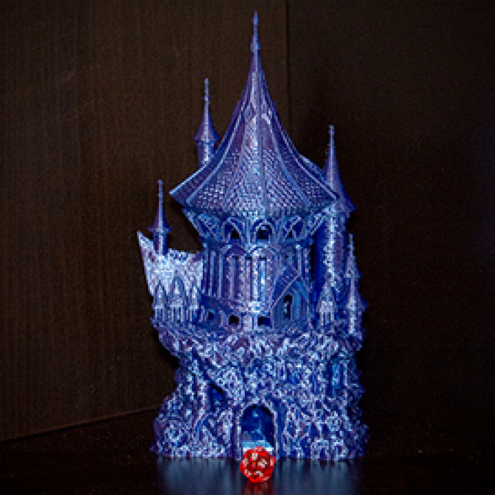 Sorcerer Dice Tower (Decorative Tower NOT included) SUPPORT FREE!