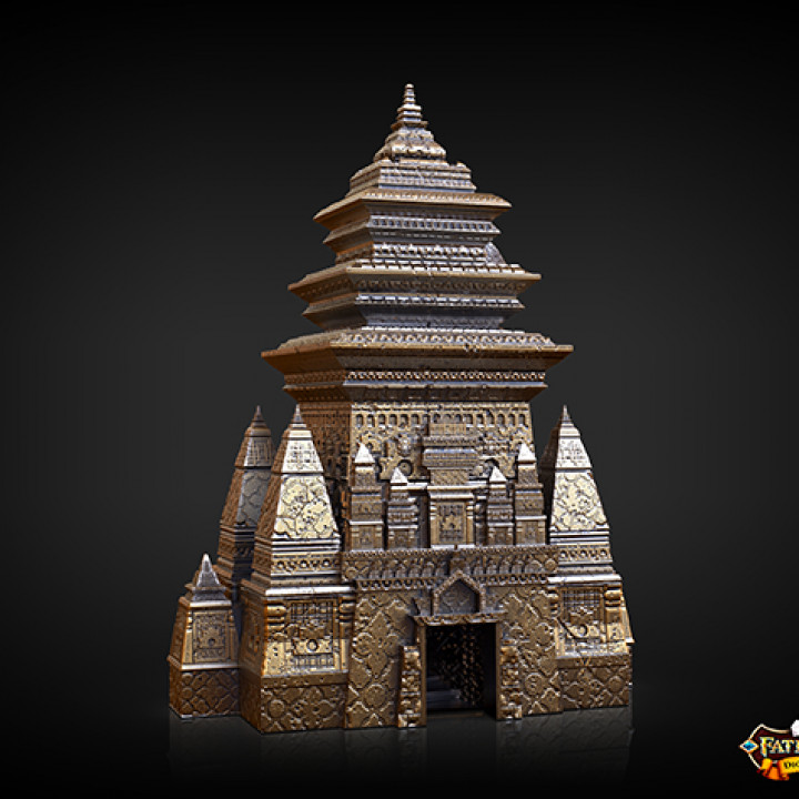 Monk Dice Tower (Decorative Tower NOT included) SUPPORT FREE!