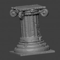 Ancient Pillar - Decorative Plinth for Terrain or Mini base