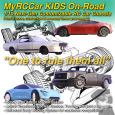 MyRCCar KIDS On-Road, 1/10 Next-Gen Customizable RC Car Chassis