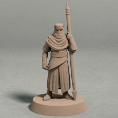 FREE - Night s Cult soldier with spear pose 1 miniature - STL file