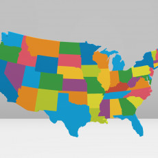 United States of America 3D Map 3D model