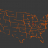 United States of America 3D Map 3D model image