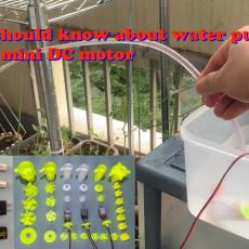 mini submersible water pump using DC 130 motor