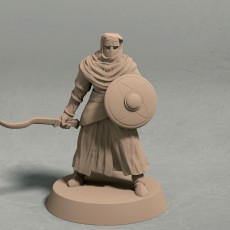 Night s Cult soldier with sword pose 2 miniature - STL file