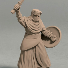 Night s Cult soldier with sword pose 3 miniature - STL file