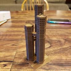Triple Tower Skyscraper for Small Scale Wargames