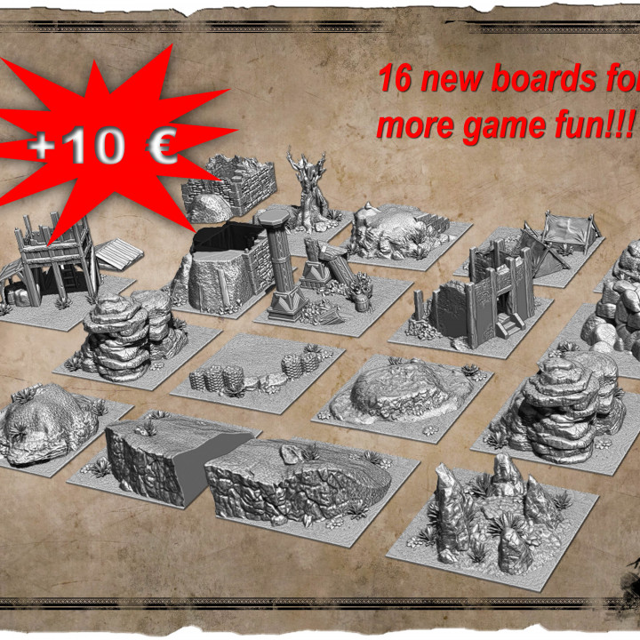 ADD-ON Scenery boards + Bonus's Cover