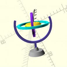 Gyroscope miniature model