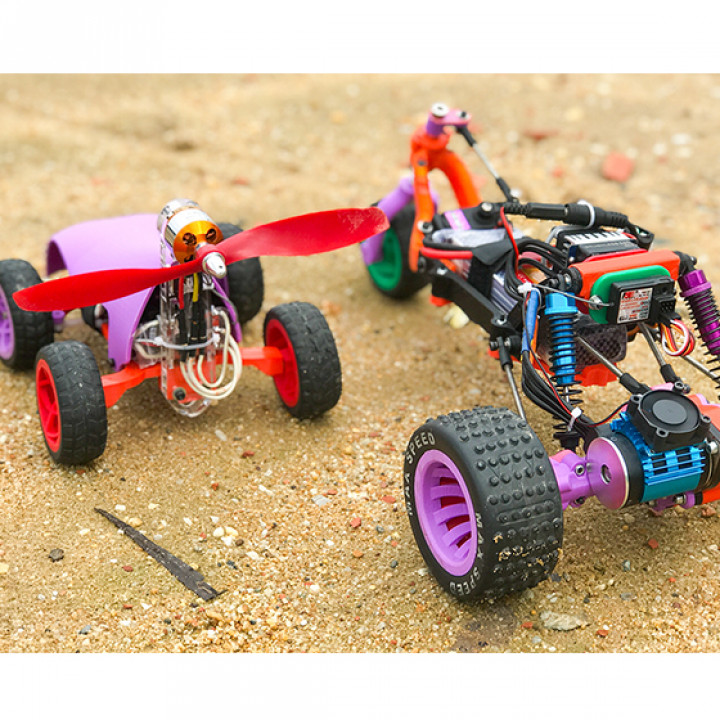 RC Off-Road 3-wheel vehicle