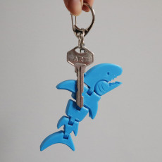 Tiny Shark Flexy Keychain