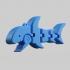 Tiny Shark Flexy Keychain image