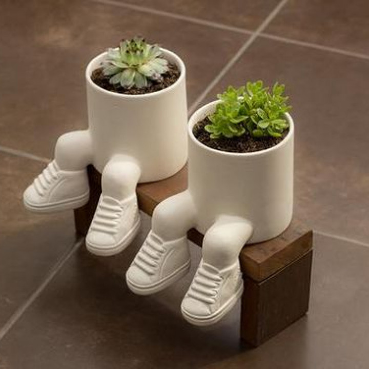 Planter with sneakers - stl for 3D printing
