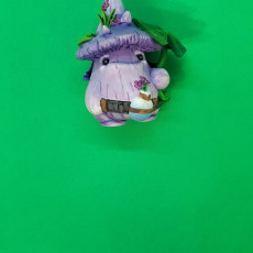 Picture of print of Shroomie Botanist Miniature - pre-supported