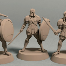 Realm of Eros soldiers with sword and shield pack (3 miniatures)