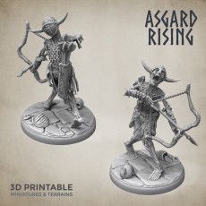 Draugr #2 Archer Undead Skieleton Modular Set PRESUPPORTED
