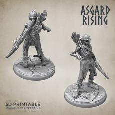 Draugr #4 Archer Undead Skieleton Modular Set PRESUPPORTED