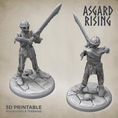 Draugr #1 Warrior Undead Skieleton Modular Set PRESUPPORTED