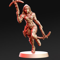Vanel - Female Demon Hunter - 32mm - DnD