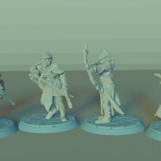Elven Archers Set, 4 Miniatures, Dungeons&Dragons !FREE!, !SUPPORTS!