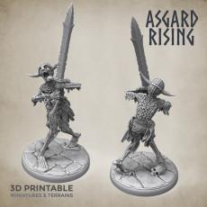 Draugr #3 Warrior Undead Skieleton Modular Set PRESUPPORTED
