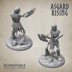Draugr #4 Warrior Undead Skieleton Modular Set PRESUPPORTED