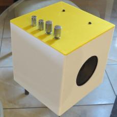 Caixa de som com impressao 3D