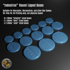 Industrial / Sci-Fi Miniature Bases for Warcaster / Warmachine etc - Assorted Sizes