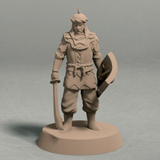 Empire of Jagrad soldier with sword pose 1 miniature - STL file