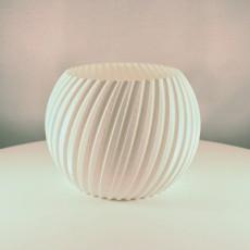 Sphere Planter Striped - (Vase Mode)