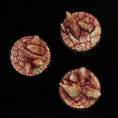 Picture of print of 3 x Round Bases 40mm RUNE RUINS Theme