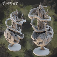 Pre-supported CoS spellcaster rpg miniature