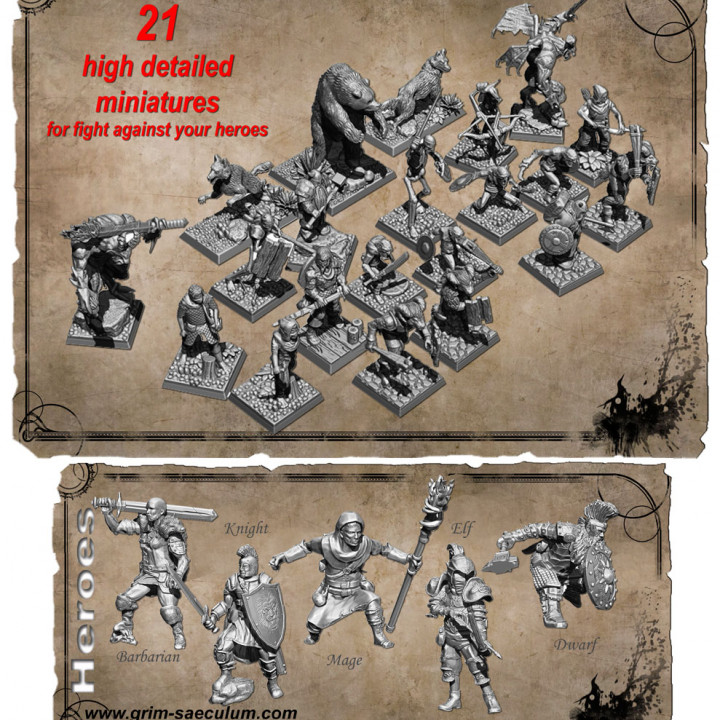 All miniatures* (STL Files)'s Cover