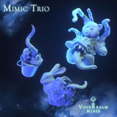 Mimic Trio (Teddy Bear, 3D Rabbit, Bucket)