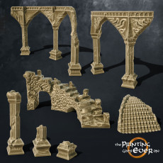Ruins Scatter Terrain - Supportless