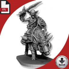 Goblin Boar Rider - Sword and Shield
