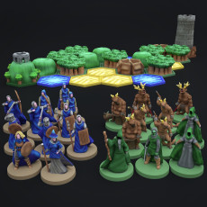 Pocket-Tactics: Core Set - Legion of the High King against the Tribes of the Dark Forest