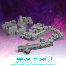 Arvalon-8 Barricades and Supplies