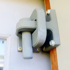 Lock and pin for sliding door