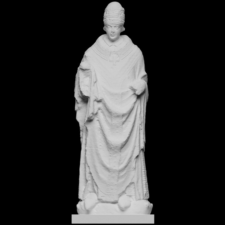 3D Printable Pope Clement V (II) by Scan The World