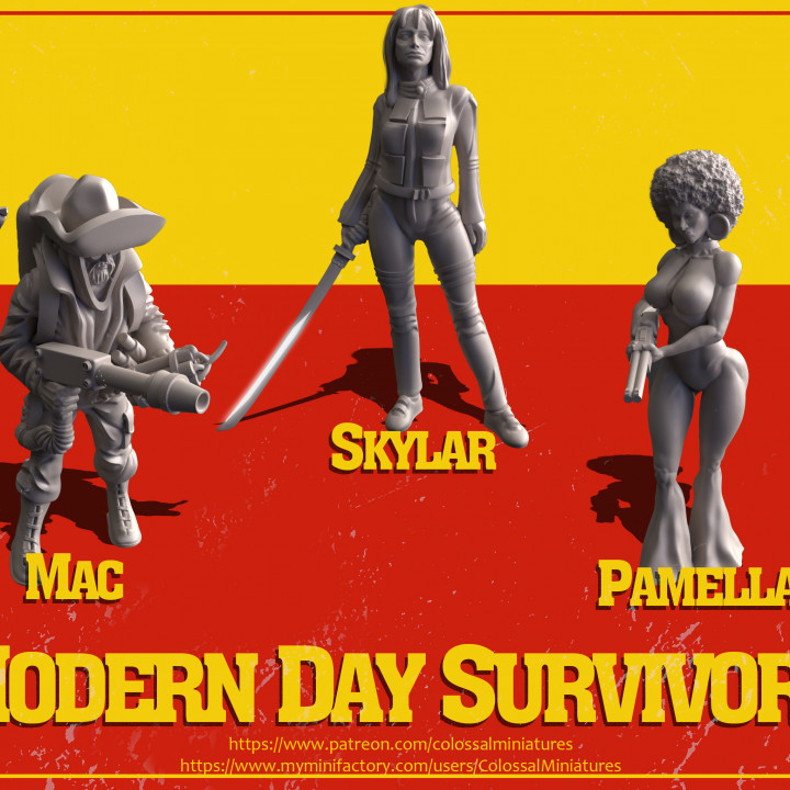Modern Day Survivor Series 01 Bundle - PRE-SUPPORTED's Cover