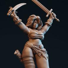 Damathea with sword