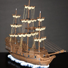 Picture of print of Pirate Ship The Menace / Corsair Sailing