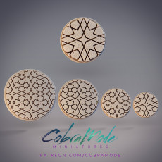 4Pcs Moroccan Inspired Tile Bases Pack