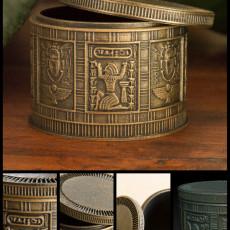 Egyptian Trinket Box (round)