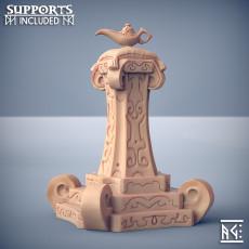 Magic Lamp Altar - Rakshakin Headhunters Terrain Piece