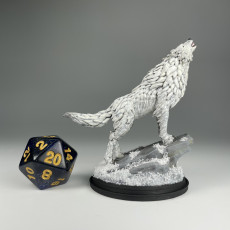 Picture of print of Winter Wolf Howling / Dire Wolf / Forest Monster Encounter